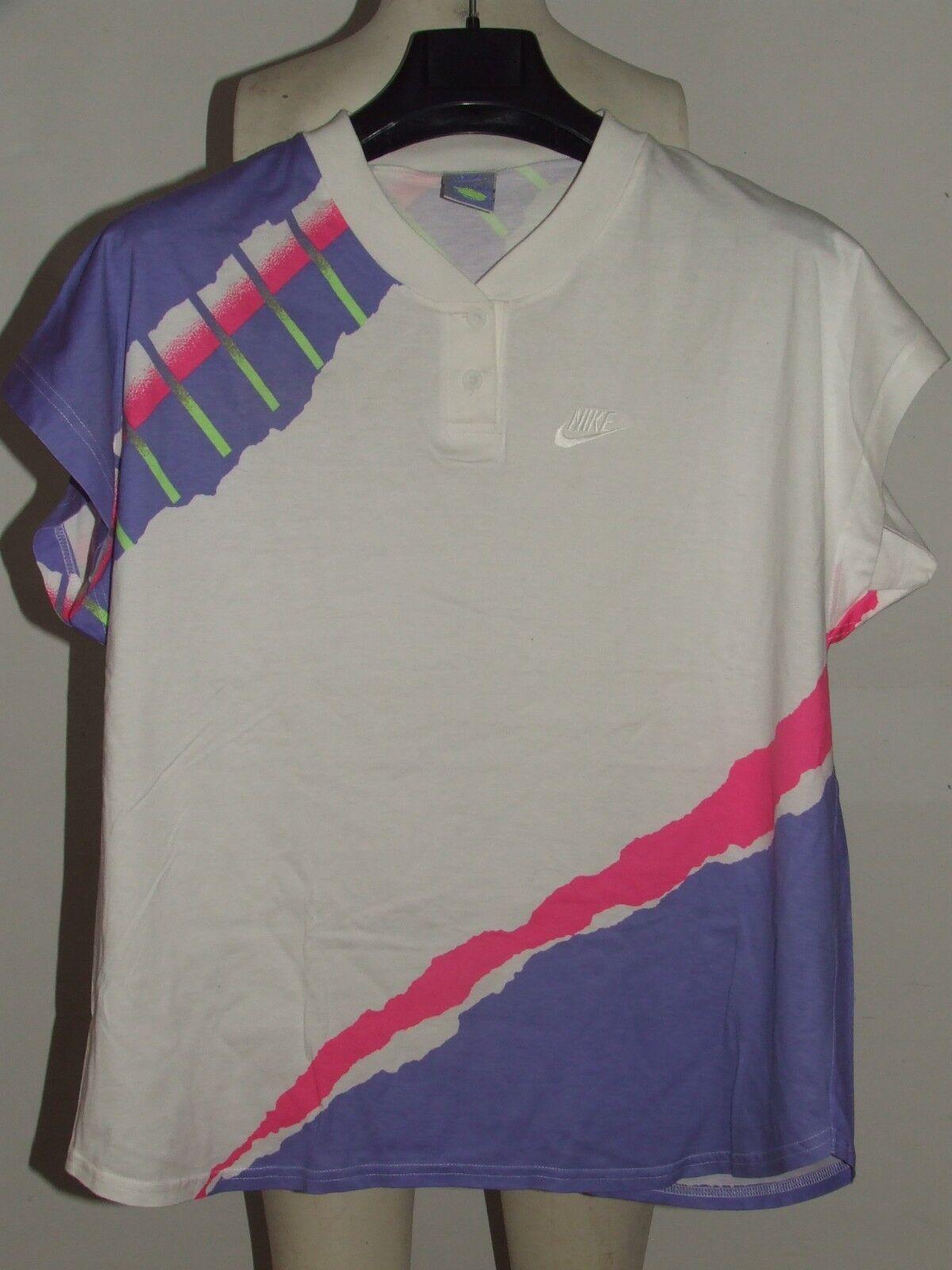 Trikot Trikot Maillot Tennis polo vintage Nike challenge Court TG. l