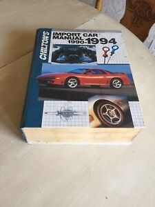 Chilton Import Car Repair Manual 1990-1994 Book