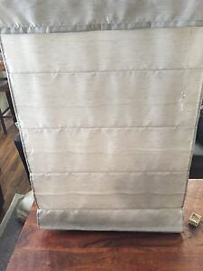 Grey Roman blinds for small window 33wX57h
