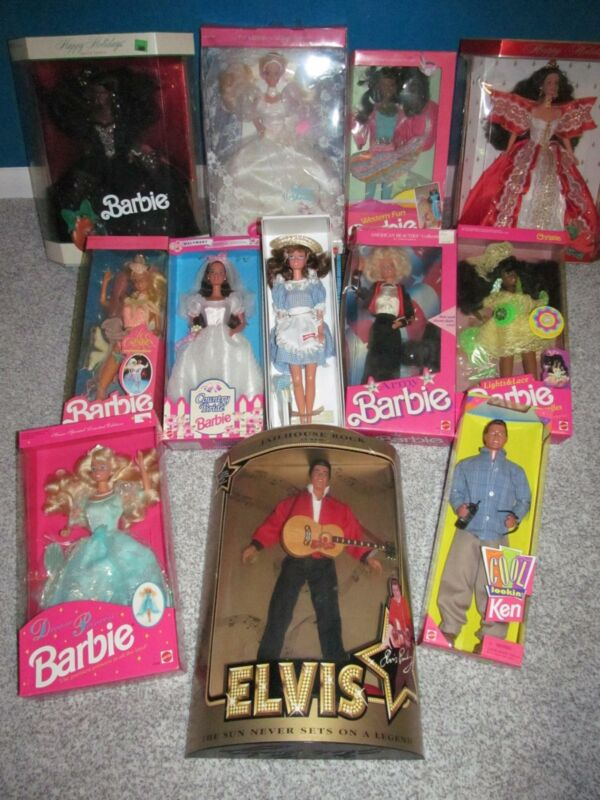 Vintage Barbie LOT 12 Limited Special Edition 1980 1990 Holiday Anniversary NIB