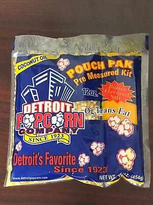 Popcorn Coconut Oil 12oz. Kit 24 Packs Naks Paks
