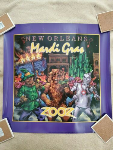 MARDI GRAS 2002 - POSTER BY PONCE    NEW
