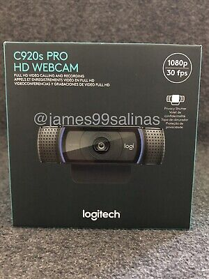 *IN HAND* Logitech C920s Pro HD 1080p Webcam with Privacy Shutter - 960-001251