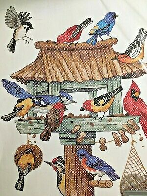 Birds Stamped Cross Stitch (Dimensions DINNER CALL Stamped Cross Stitch KIT  11