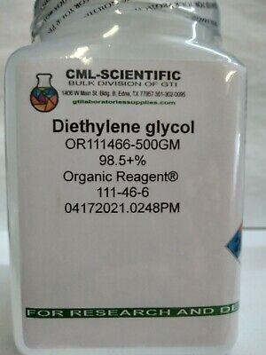 Diethylene Glycol 98.5 Organic Reagent 500g