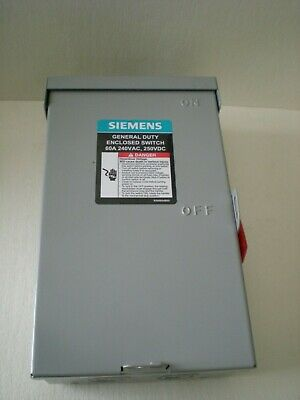 Siemens Gf322nra Outdoor Fusible Safety Switch 60a 240v