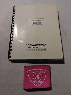 Wavetek Model 907a 7 To 12.4 Ghz Signal Generator Instruction Manual
