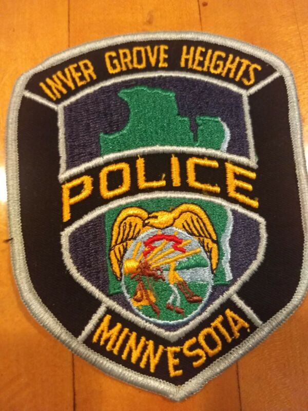 """Inver Grove Heights Minnesota Police 4"""" x 5.25"""" Embroidered Patch - New"""