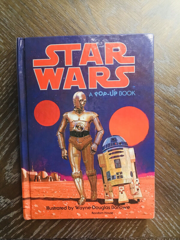 1978 Vintage Star Wars A Pop-Up Book Random House Hardcover Wayne Douglas Barlow