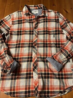 Billabong Clothing Mens Size Small Button Up Long Sleeve Flannel Shirt