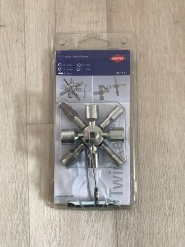 KNIPEX 00 11 01 TwinKey für Gängige Schränke und Absperrsysteme/ Steckschlüssel