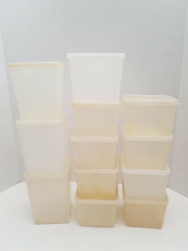 Vtg FREEZETTE REPUBLIC MOLDING CORP Plastic Food Storage Containers Lot of 12
