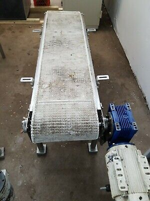 Conveyor 14 X 47 Stainless Steel Conveyor Small Flights On Belt