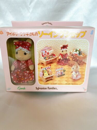 Sylvanian Families Ivory Rabbit Sewing Shop Set Retired Calico Critters Epoch JP