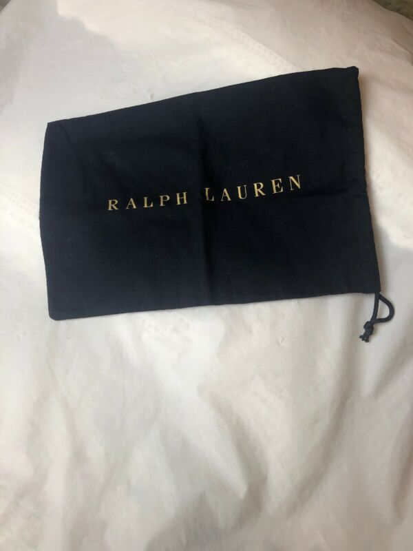Ralph Lauren Blue Drawstring Shoe Bag 14 inch