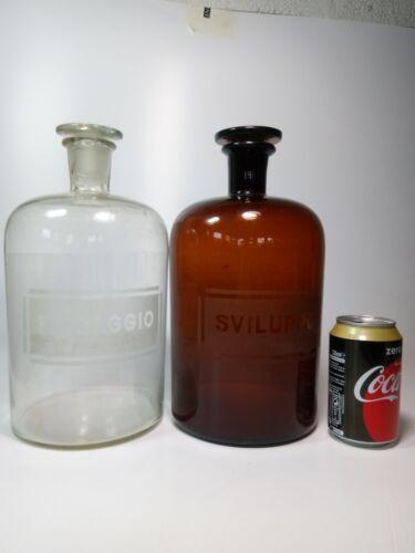 Vintage Photography Storage Bottles Darkroom Chemical Industrial Studio Decor