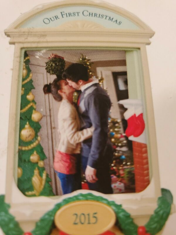 "New Hallmark ""Our First Christmas"" Keepsake Photo Frame Christmas Tree Ornament"