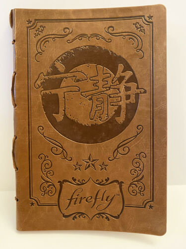 Firefly - Faux leather journal  w/ gold gilding - Loot Crate exclusive Serenity
