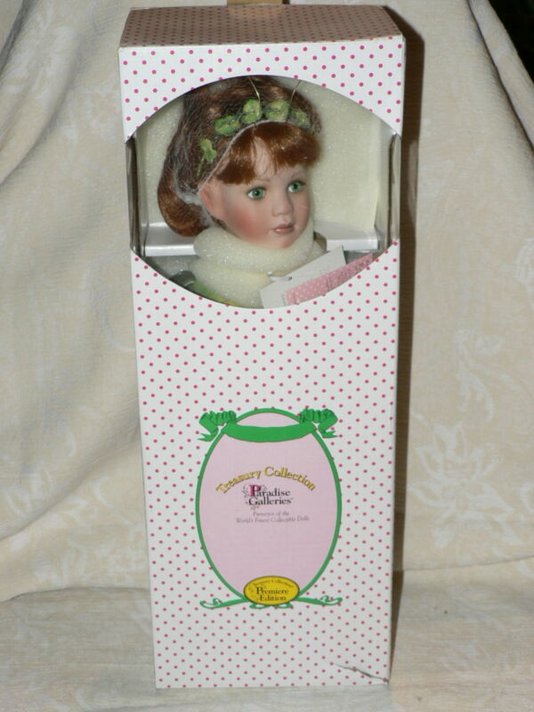 Paradise Galleries Fairy Porcelain Doll 10th Anniversary Emerald Isle NRFB