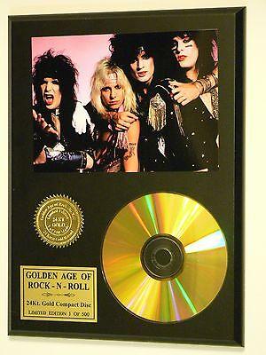 Motley Crue - 24k Gold CD Display Rare Limited Edition - USA Ships Free