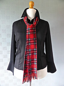 Red tartan plaid neck scarf wrist scarf 70's concerts Bay City Rollers seventies