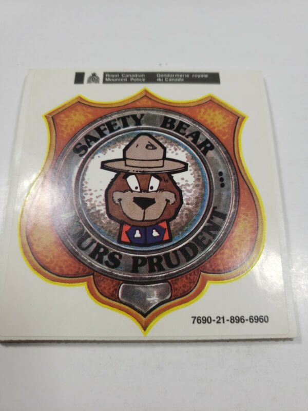 Royal Canadian Mounted Police Sticker/ Decals Lot Vintage
