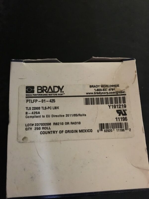 brady labels ptlfp 01-425