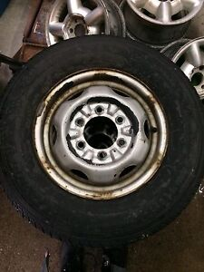 """14"""" 6 bolt rims and tires"""