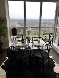 Glass top Dining Table + Structube chairs