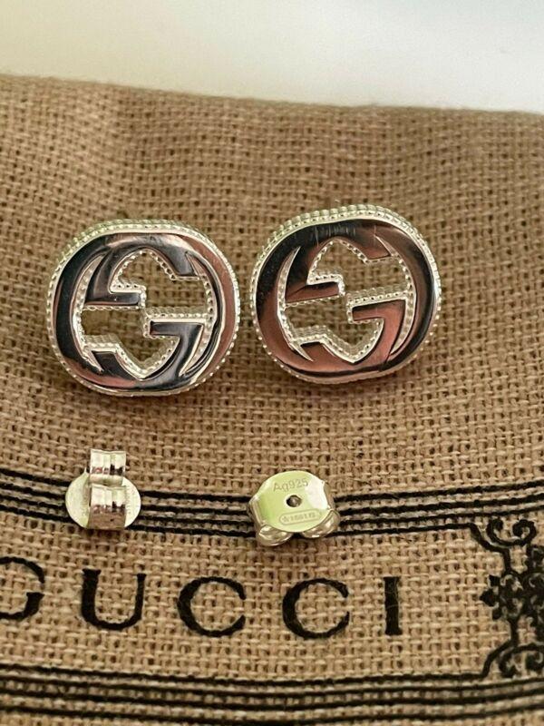 New Gucci Interlocking GG Earrings in 925 silver