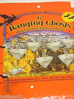 6 Hanging Ghosts Halloween Tree Decorations 10