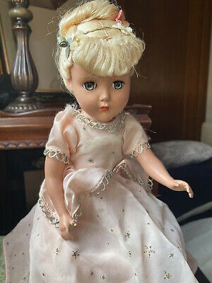 "Arranbee (R & B) Doll , blonde in pink dress, 15"" tall, excellent condition"
