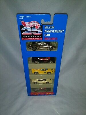 Hot Wheels Exotic Car 5 Pack 1993 Silver Anniversary Mint Box