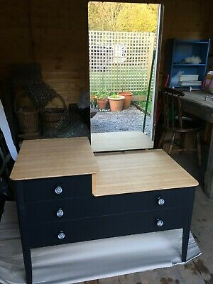Upcycled retro vintage mid century dressing table