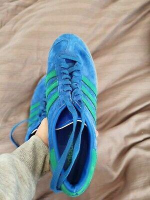 Adidas Hamburg Trainers: Blue/Green/Gum, Size 10.5.