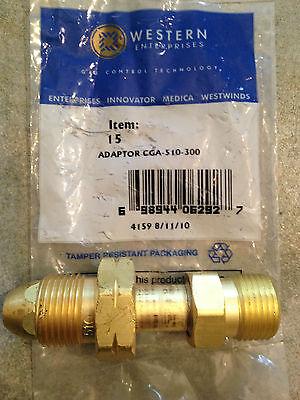 "ITEM 6-Western Adaptor 314 /""MC/"" Acetylene CGA 200 Female 520 /""B/"" Tank Male"