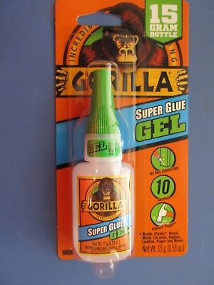 Gorilla Super Glue Gel 15 Gram Bottle. Heavy Duty Super Glue Gel 7600103 New