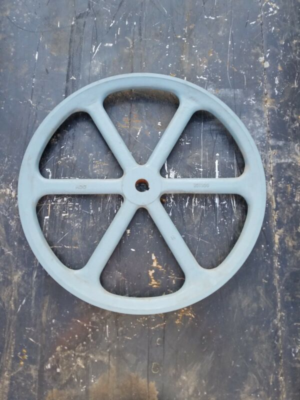 """👀 ADC AMERICAN DRYER CORP 18"""" CYLINDER PULLEY PART NO. 101100 BELT DRIVE BLUE"""