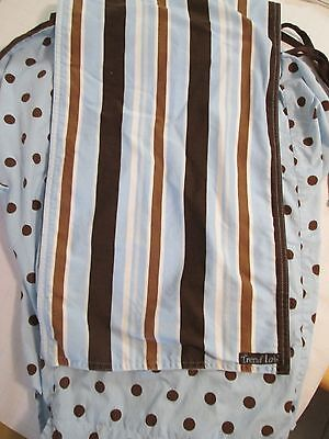 Trend Lab Max Dot Hamper Fabric & Mesh Liner Only Blue Brown NO FRAME VGUC