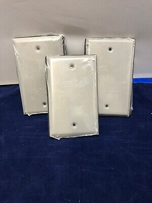 Lot Of 3 Bell Single Gang Blank Weatherproof Outdoor Box Cover - 5173-0536016