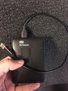 WD Passport 500 GB USB 3 external drive