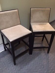 Set of 2 Bar / Counter Height Chairs
