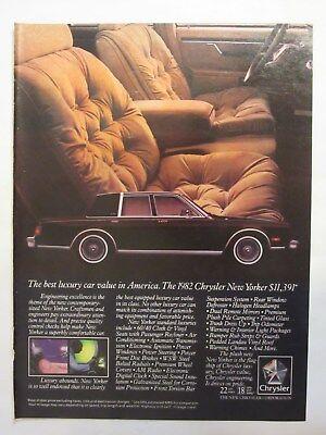 1982 Chrysler New Yorker: Best Luxury Car, Interior Vintage Print