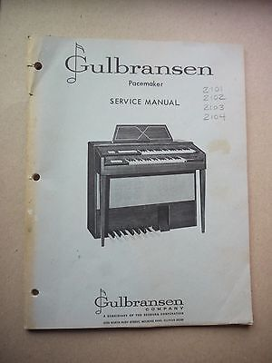 Gulbransen Pacemaker Service Manual