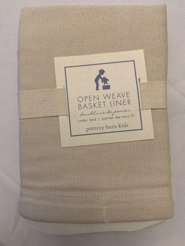 Pottery Barn Kids Open Weave Under Bed Basket Liner in Natural New L9