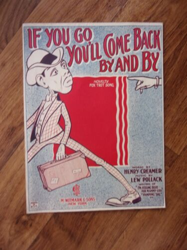 """1923 Stereotypical Black Sheet Music """"If You Go You"""