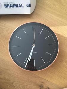 Black faced copper clock - Never been used (in box) Braddon North Canberra Preview