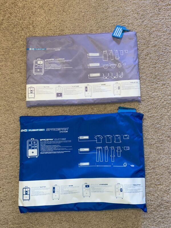 (2)Flight 001 SPACEPAK Clothes Blue, Purple Packing Travel Bag Luggage Organizer