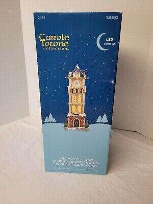 Carole Towne Collection Wendy's Clock Tower 2019 New 1293623 Lights Up