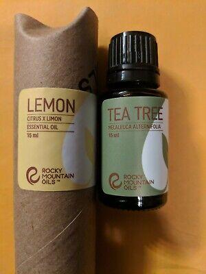 Rocky Mountain Oils 🍋 Lemon & Tea Tree 15ml *New* retail -